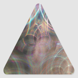 Abstract Rainbow Light Patterns Triangle Sticker