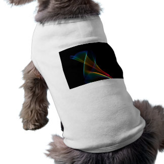 Abstract Rainbow Lily, Colorful Mystical Flower Sleeveless Dog Shirt