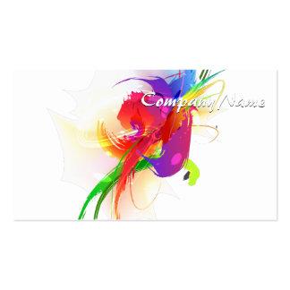 Abstract Rainbow Lorikeet Paint Splatters Business Card Templates