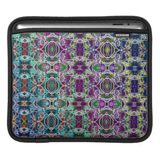 Abstract Rainbow Mandala Fractal iPad Sleeve
