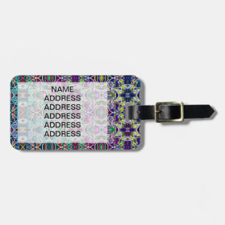 Abstract Rainbow Mandala Fractal Luggage Tag