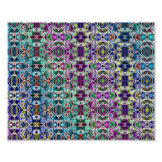 Abstract Rainbow Mandala Fractal Photo Print