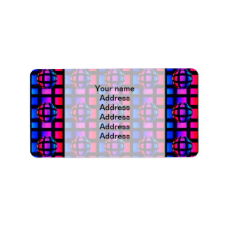 Abstract Rainbow Marble Address Label