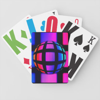 Abstract Rainbow Marble Bicycle Card Deck