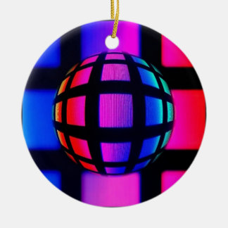 Abstract Rainbow Marble Christmas Ornament