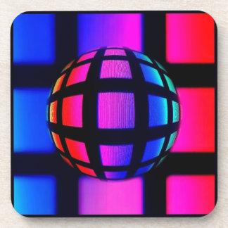 Abstract Rainbow Marble Coasters