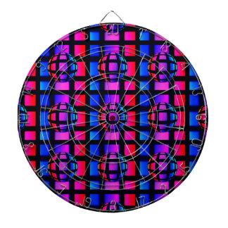 Abstract Rainbow Marble Dartboard