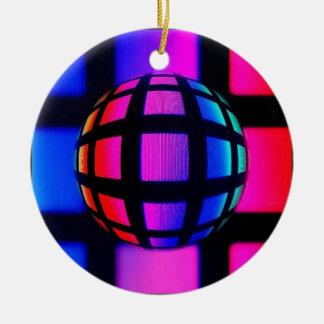 Abstract Rainbow Marble Christmas Tree Ornaments