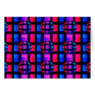 Abstract Rainbow Marble Greeting Card