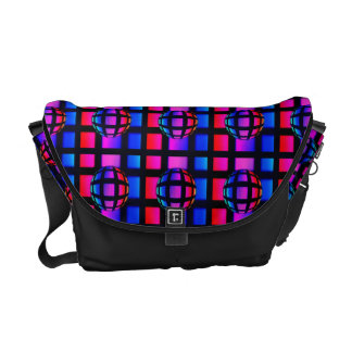 Abstract Rainbow Marble Messenger Bags