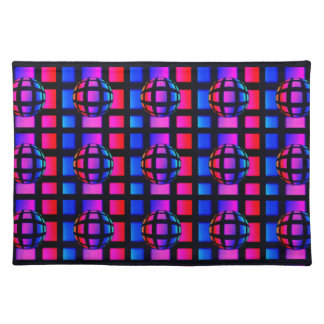 Abstract Rainbow Marble Place Mat