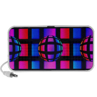 Abstract Rainbow Marble Travel Speakers