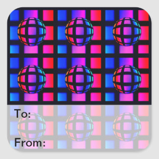 Abstract Rainbow Marble Square Sticker