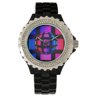 Abstract Rainbow Marble Watch