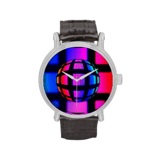 Abstract Rainbow Marble Wrist Watch