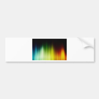 Abstract Rainbow Red Blue Greed Yellow Orange Bumper Sticker
