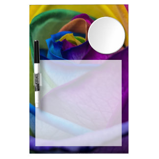 Abstract Rainbow Rose Dry Erase Board With Mirror