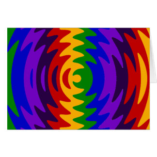 Abstract Rainbow Saw Blade Ripples Colorful Design Note Card