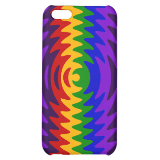 Abstract Rainbow Saw Blade Ripples Design iPhone 5C Cases