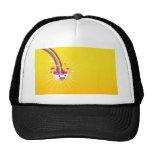 Abstract Rainbow Smile Mesh Hats