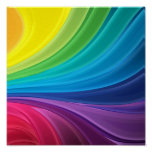 Abstract Rainbow Swirl Canvas Print