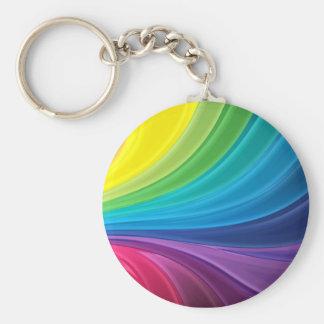 Abstract Rainbow Swirl Key Chain