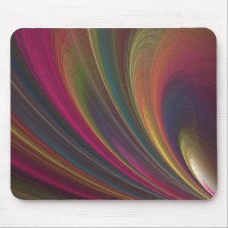 Abstract Rainbow Swirl Mouse Pad