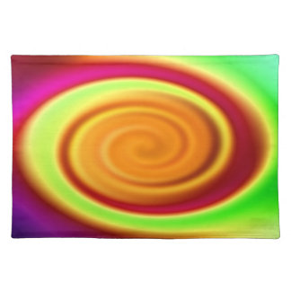 Abstract Rainbow Swirl Pattern Placemat