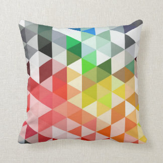 Abstract Rainbow Triangle Pattern Cushion