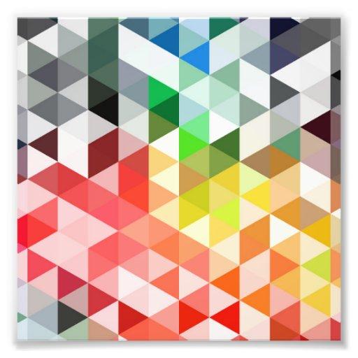 Abstract Rainbow Triangle Pattern Art Photo