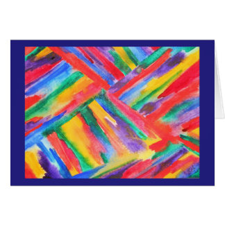 Abstract rainbow watercolor card