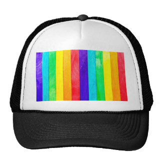 Abstract Rainbow Wood Wooden Fence Cap