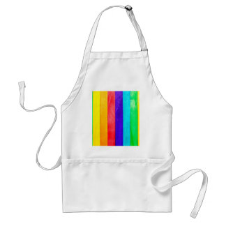 Abstract Rainbow Wood Wooden Fence Standard Apron