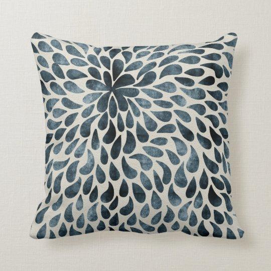 Abstract Raindrop Flower Cushion
