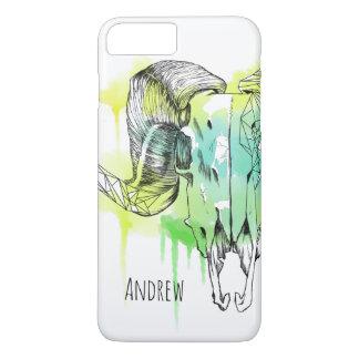 Abstract Ram skull iPhone 8 Plus/7 Plus Case