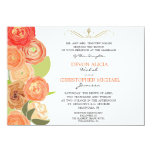 Abstract Ranunculus Fall Flowers Wedding Invite 11 Cm X 16 Cm Invitation Card