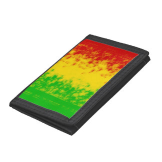 Abstract Rasta Stripes Wallet