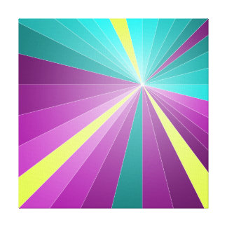 Abstract rays colorful geometric design gallery wrapped canvas