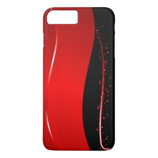 Abstract Red and Black line iPhone 8 Plus/7 Plus Case