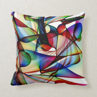 Abstract red and blue Pillow Design
