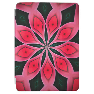 Abstract Red And Dark Green Pattern Background iPad Air Cover