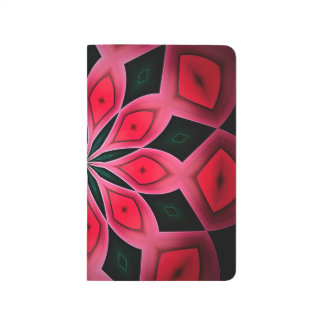 Abstract Red And Dark Green Pattern Background Journal