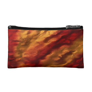 Abstract Red And Orange Texture Cosmetic Bag