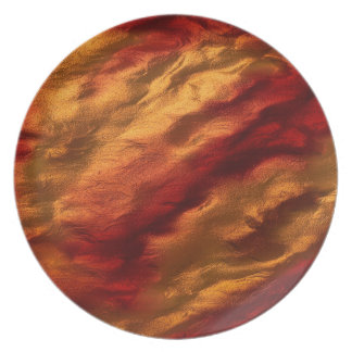 Abstract Red And Orange Texture Plate