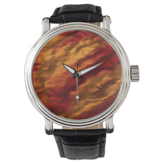 Abstract Red And Orange Texture Watch