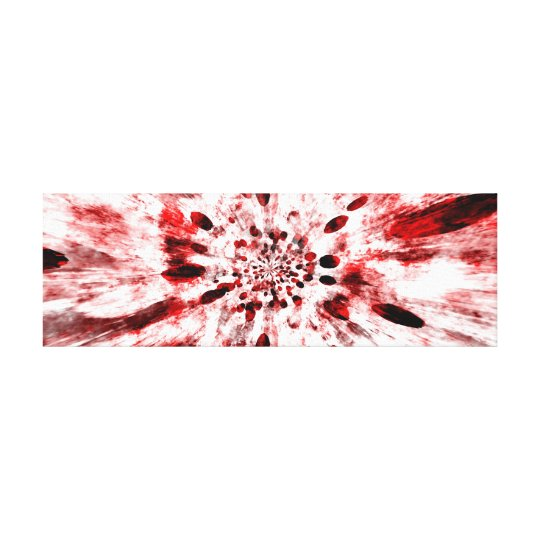 Abstract Red and White Flower Canvas Print
