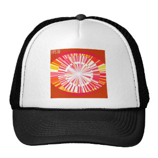 Abstract red background trucker hats
