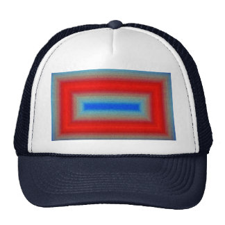 Abstract Red-blue frame Trucker Hats
