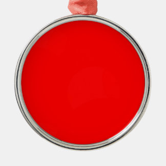 Abstract Red Circle Background Christmas Ornament
