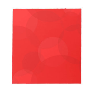 Abstract Red Circle Background Notepad
